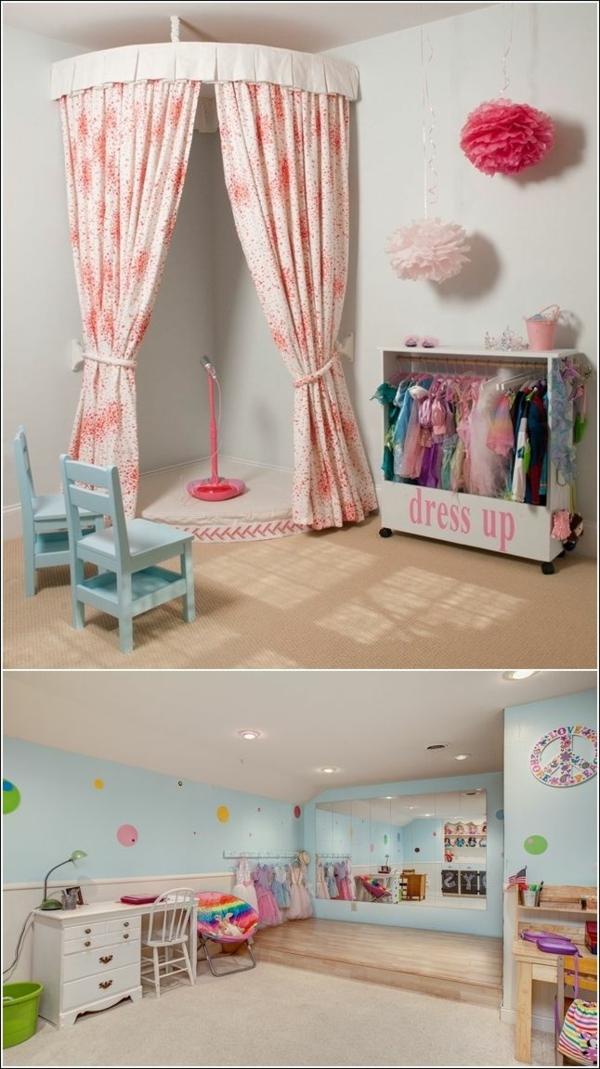 tolle dekoideen für kinderzimmer platz zum singen stühle schreibtisch