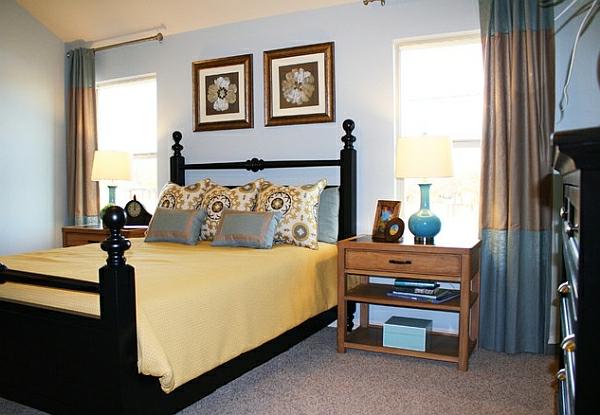 traditionell gästezimmer moderne tischlampen regale nachttisch