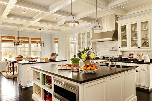 traditionell  küchenmöbel hängelampen kücheneinrichtung