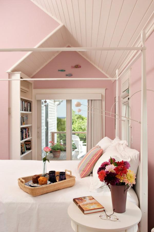 traditionell schlafzimmer rosa farben wand Dekoideen fürs Schlafzimmer