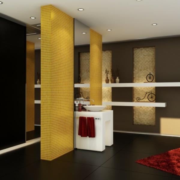Badezimmer Gelb