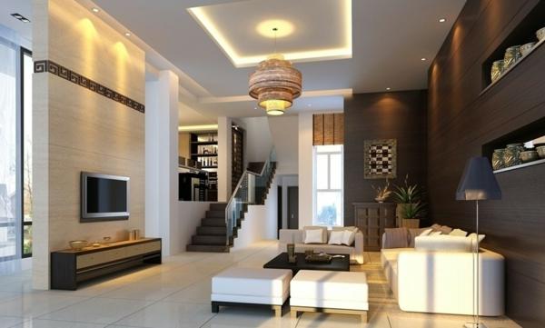 Schne Wandfarben Wohnzimmer Wandgestaltung Holz Bequem Mbel