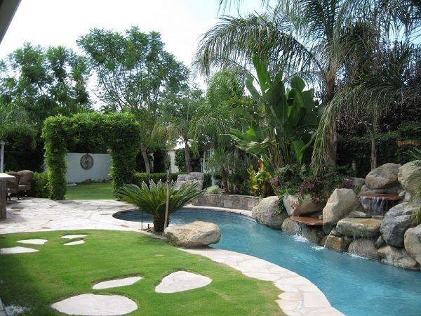 tropische landschft gartengestaltungsidee pool