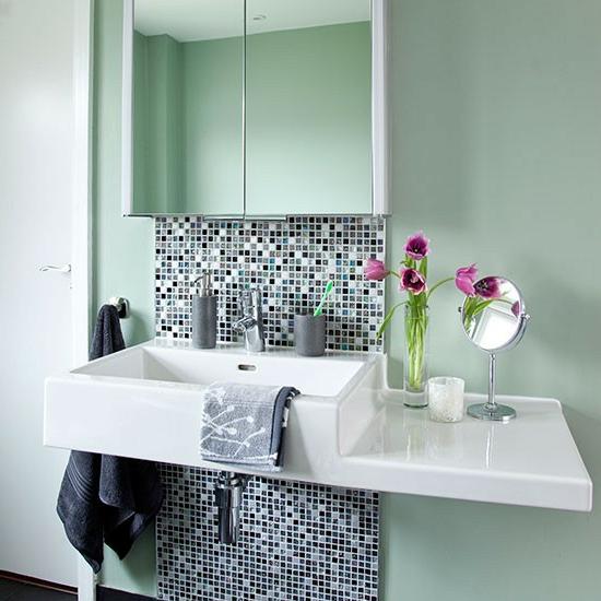 tulpen bad modern fliesen mosaik waschbecken
