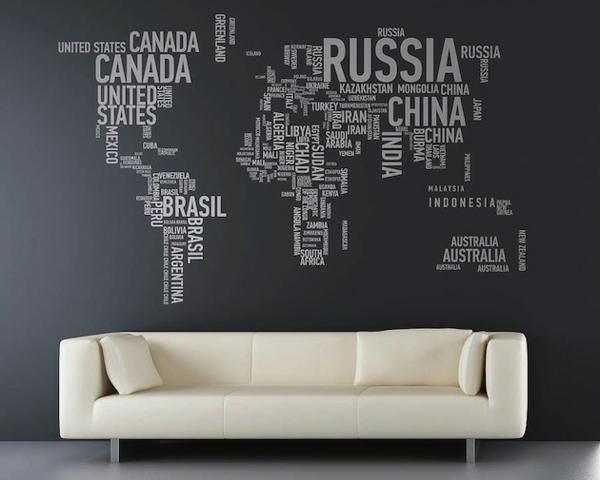 Kreative Wandgestaltung: Kreative Wandgestaltung Mit Buchstaben Und Schriften Kreieren