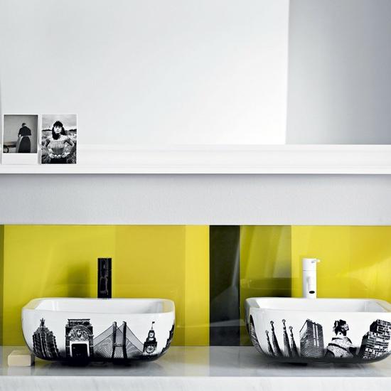 urban sticker bad modernes waschbecken