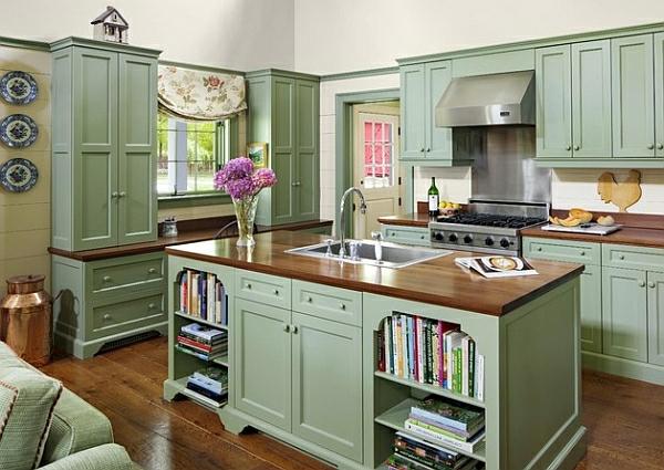 vintage grün charme haushalt möbel farben für küchenschränke