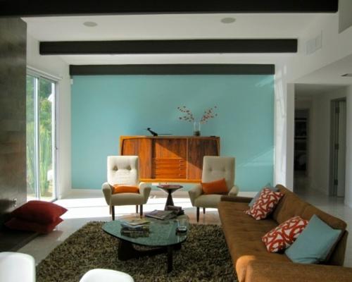 wohnzimmer retro stil:vintage wohnzimmer sofa wohnzimmergestaltung ideen retro flair