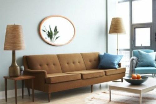 Wohnzimmer retro style  moderne häuser mit gemütlicher innenarchitektur : kühles ...