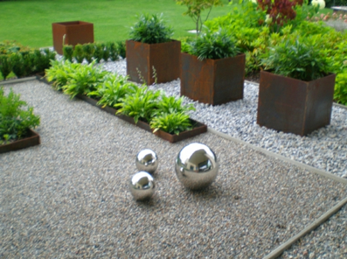 vorgartengestaltung mit kies - 15 vorgarten ideen,