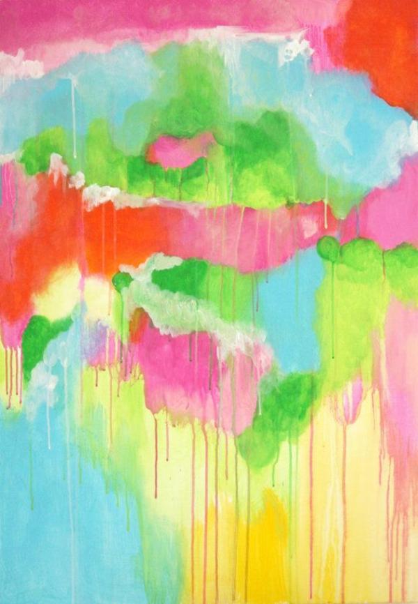wand farbe ideen art abstrakt
