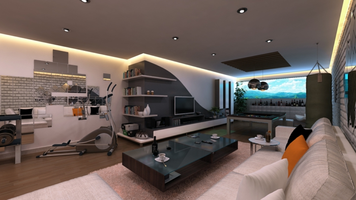 Raumgestaltung ideen  ▷ 1001+ Wandfarben Ideen für eine dramatische Wohnzimmer-Gestaltung