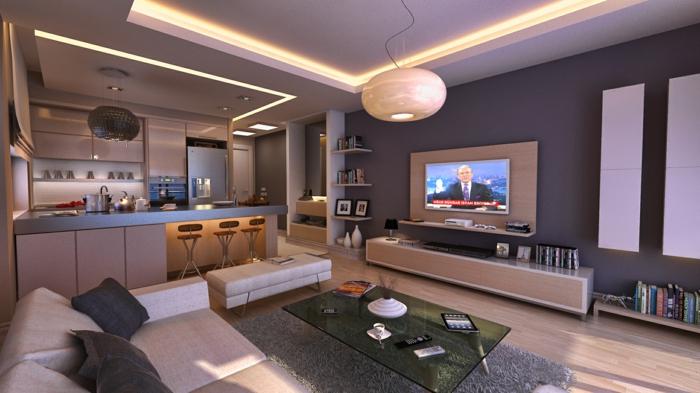 Ideen für wohnzimmer wandgestaltung  ▷ 1001+ Wandfarben Ideen für eine dramatische Wohnzimmer-Gestaltung