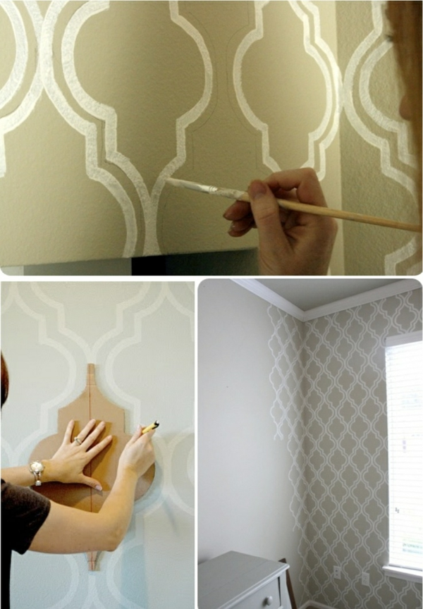 50 wandmuster bringen sie kolorit in ihre wohnung hinein - Wandgestaltung diy ...