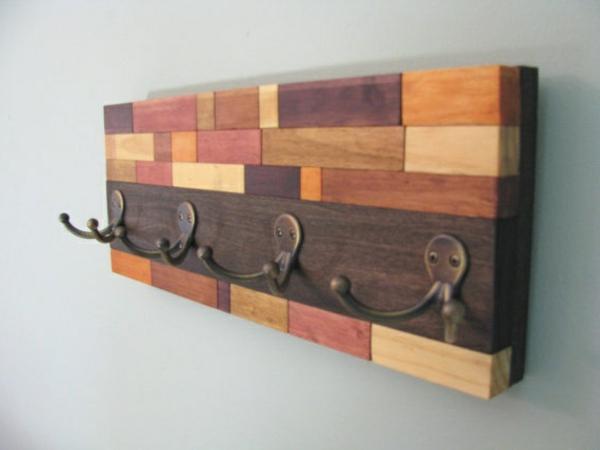 wandgestaltung mit holz wall art DIY kunst aufhänger