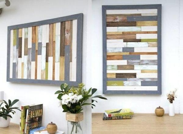 wanddeko wanddeko mit holz wandgestaltung und wall art ideen. Black Bedroom Furniture Sets. Home Design Ideas