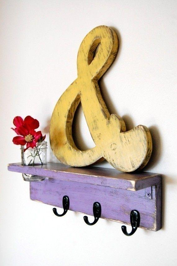 wandgestaltung wall art DIY kunst musikalisch Wanddeko mit Holz