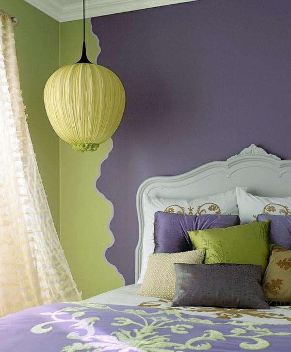 50 wandmuster - bringen sie kolorit in ihre wohnung hinein - Wohnzimmer Grun Lila