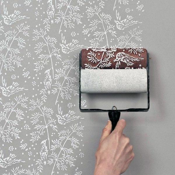 wohnzimmer wand muster:50 Wandmuster – bringen Sie Kolorit in Ihre Wohnung hinein