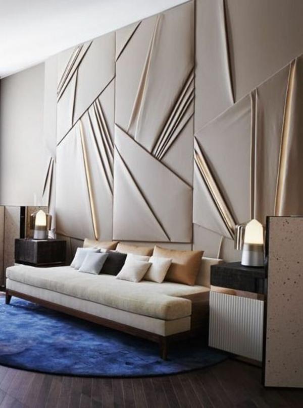 50 wandmuster - bringen sie kolorit in ihre wohnung hinein - Wanddeko Wohnzimmer Modern