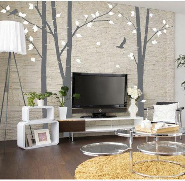 Wohnzimmer Wandgestaltung Wandgestaltung Im Wohnzimmer Ideen Und