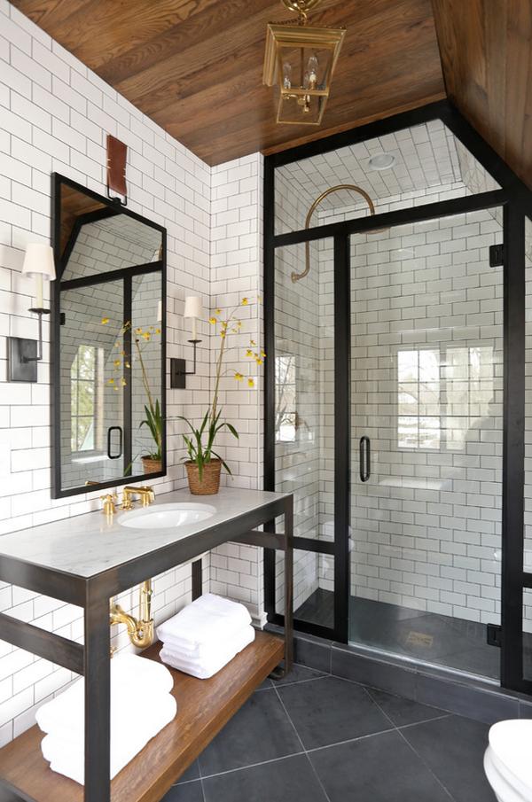waschbecken marmor spiegel waschkabin durchsichtig