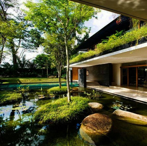 wassergarten ideen modern gestalten landschaft