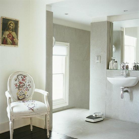 weiß bad klassisch stil stuhl waschbecken