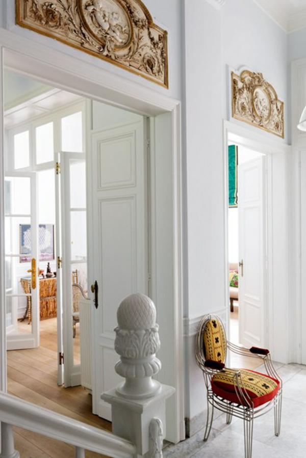 weiß farbgestaltung herkömmmlich design flur treppe