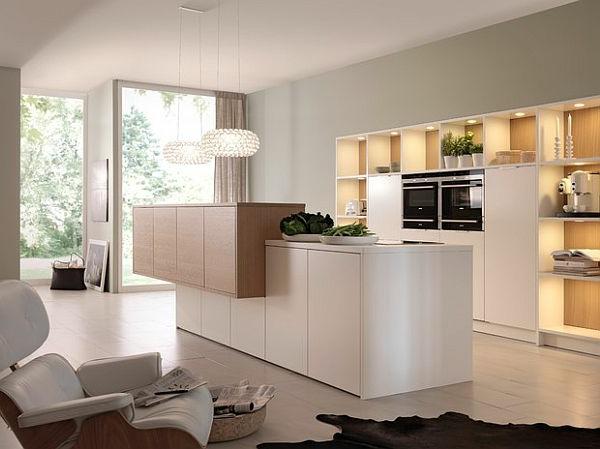weiß kücheninsel esszimmer pendelleuchten küchenarbeitsplatte