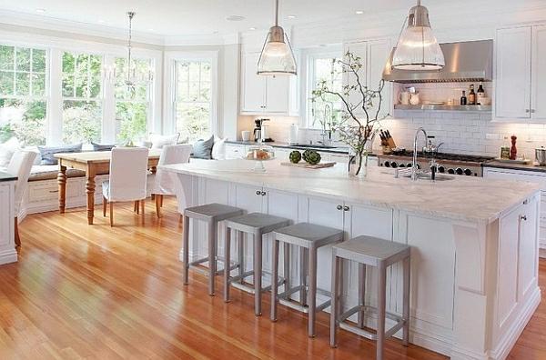 Küche offene küche landhausstil : 50 Ideen für Kücheneinrichtung und Küchenmöbel mit modernem Charakter