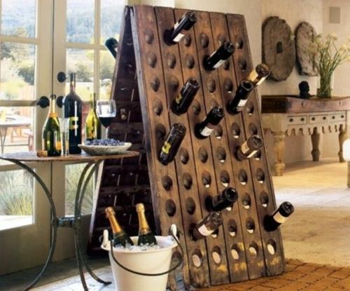 Weinregal aus weinkisten  Weinregal bauen - 25 stilvolle Ideen zum Selbermachen