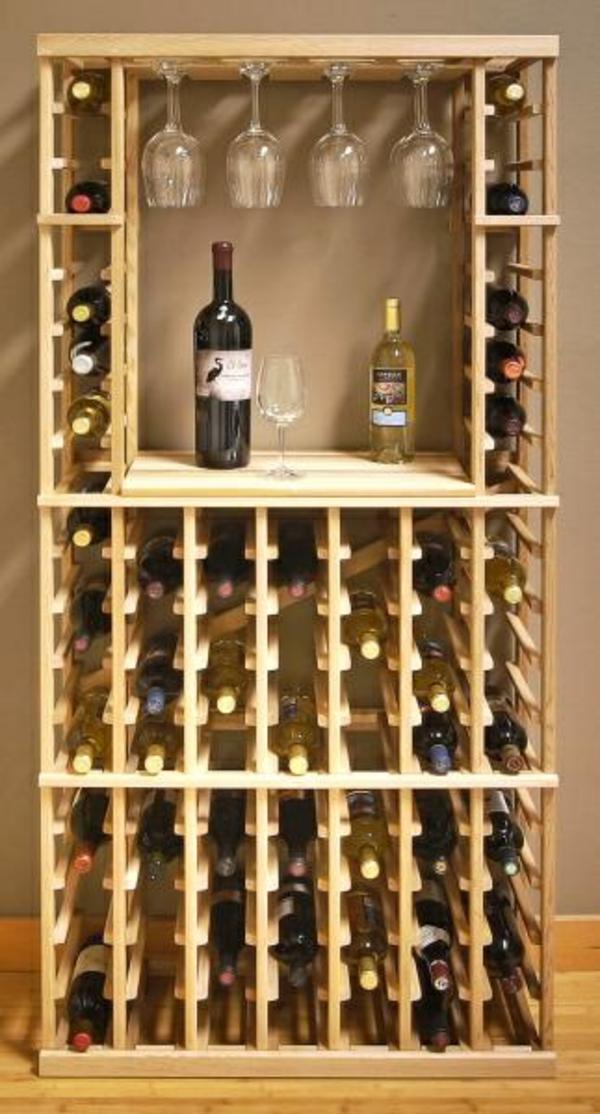 Weinregale Holz Selber Bauen ~ wand wweinregal organisationssystem für viele flaschen