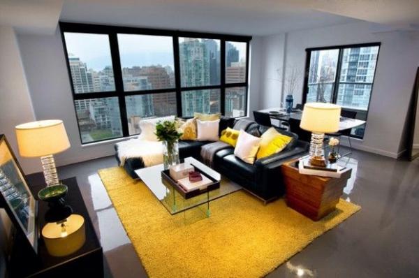 Wieder Gelbe Elemente Im Wohnzimmer