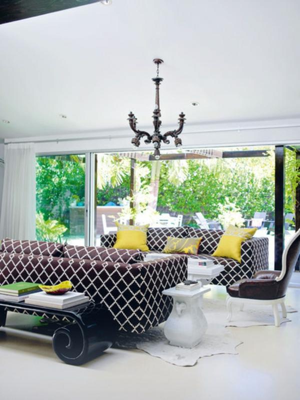 wohnen polstermöbel sofas kissen gelb Polstermöbel und Wohnlandschaft