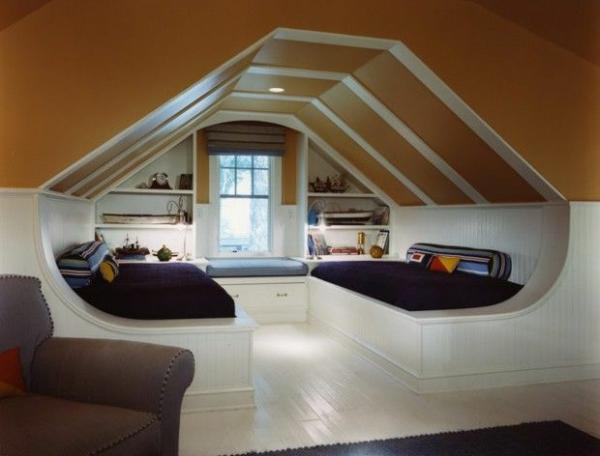 wohnideen schlafzimmer attic clever betten