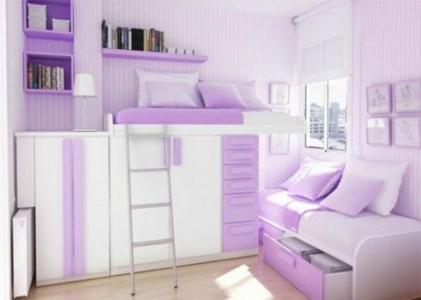 wohnideen schlafzimmer zärtliche farben stauraum