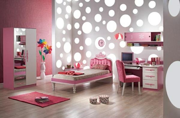 wohnideen tolle beleuchtung - Teenagerinnen Zimmer Wandfarbe