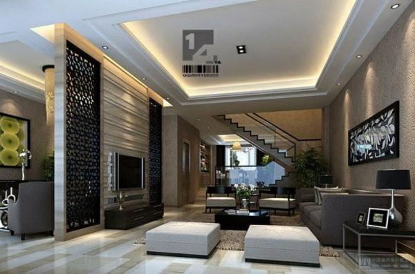 wohnideen zimmer luxuriös gestalten trennwan  mit dekoration