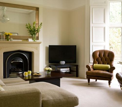sessel tradiitonell sauber wohnzimmer einrichten leder