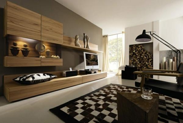 wohnzimmer einrichten schach bodenbelag stehlampe