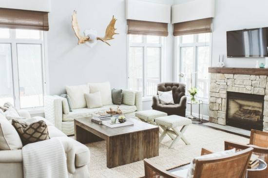 Wohnzimmer einrichten landhausstil modern  De.pumpink.com | Farbe Wohnzimmer Braune Möbel