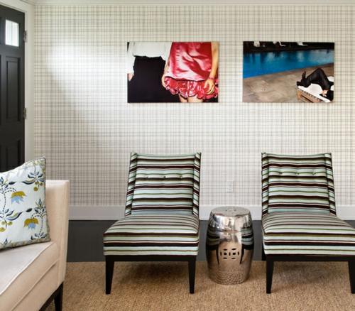 kunstvoll liegen streifenwohnzimmer gestalten ausgewogen