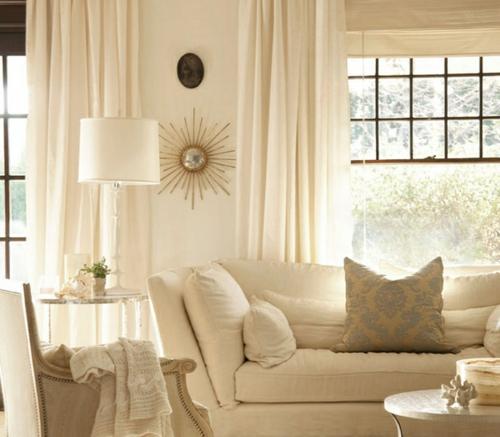 verschiedene texturen wohnzimmer gestalten weiß