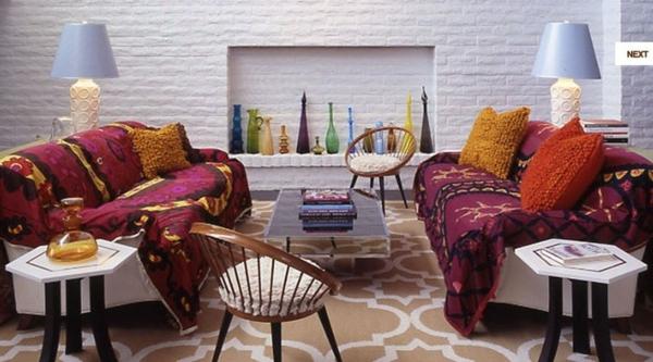wohnzimmer ideen wohnung einrichten sofa dekokissen decken