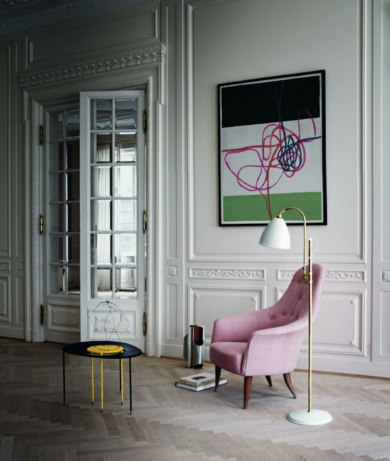 moderne kunst im wohnzimmer