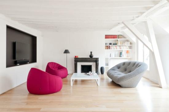 design : moderne wohnzimmer mit kachelofen ~ inspirierende bilder ... - Moderne Wohnzimmer Sofa