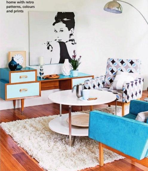 ... Wohntrend zum Verlieben – Wohnzimmergestaltung Ideen im Retro-Stil