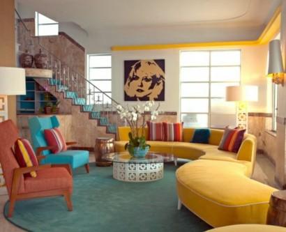 Fesselnd Wohnzimmergestaltung Ideen Im Retro Stil U2013 30 Beispiele Als Inspiration