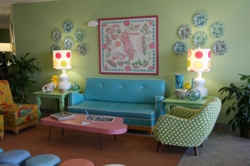 Wohnzimmer Retro Stil ~ Kreative Bilder für zu Hause Design-Inspiration